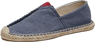 Hommes Espadrilles Patchwork Couleur Unie Chaussures en Toile Légères Antidérapantes Slip-on Basses Mocassins Décontractés...