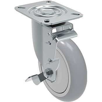 150 lbs Plate 3-3//4 x 2-1//2 3 x 1-1//4 Swivel Caster with Wheel Lock Brake GLA 312 TBE SL Non-Marking Thermoplastic Rubber Precision Ball Bearing Wheel Bolt Holes 3 x 1-3//4 Schioppa L12 Series