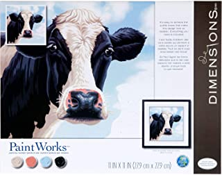 Dimensions , Cow PaintWorks Numbers Kit for Adults and Kids, Painting, x 11'