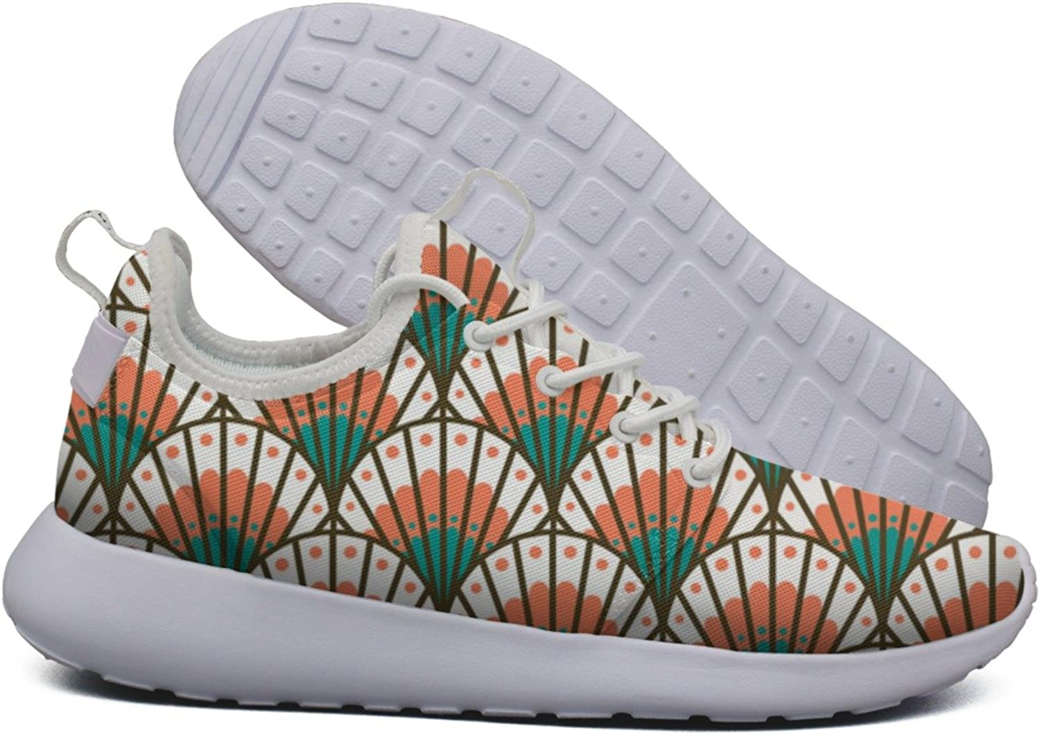 Coral Scallop Shell Beach Pattern Women's Lightweight Mesh Running Sneakers Exclusive Sports shoes