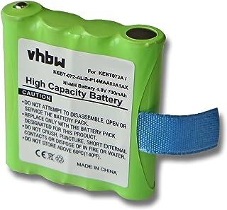 vhbw Baterías NiMH 700mAh (4.8V) para Dispositivos de Radio Motorola TLKR T3, T4, T5, T6, T7, T8, T50. reemplaza IXNN4002B...