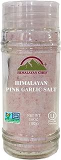 Himalayan Chef Himalayan Pink Garlic Salt(Small Shaker), 3.6 oz, Kosher Certified & Non GMO