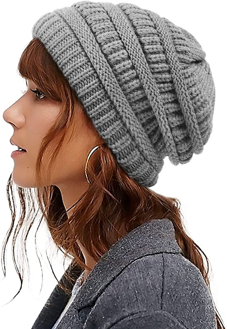Womens Jacksonville Mall Satin Lined Genuine Free Shipping Winter Hats Beanie Knit Cable Silk Thic