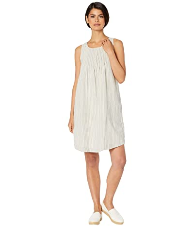 Mod-o-doc Tank Dress with Pintucks and Pockets in Veranda Stripe (Blue) Women
