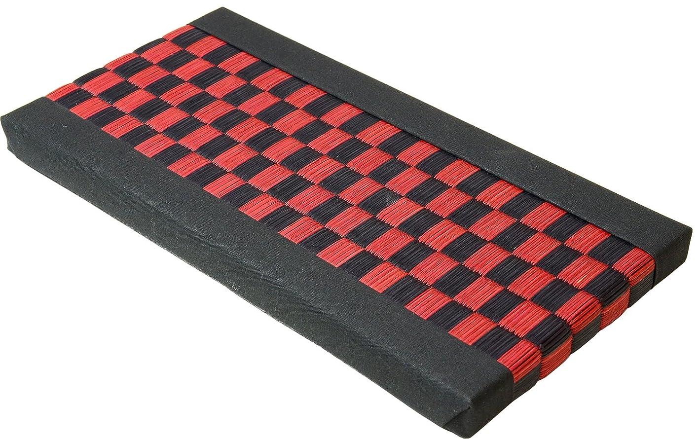 ラベルクラス狂人九州物産 GOZA プチたたみ 15×30cm 市松模様/赤黒