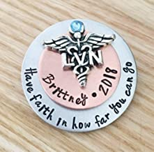 LVN LPN Nursing Pins for White Coat pinning Ceremony Pin brooch Personalized Jewelry gift For new LPN LVN