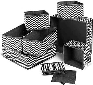 Boîte de rangement pliable pour sous-vêtements - séparateurs de tiroir - paniers en tissu pour chaussettes, soutien-gorge,...