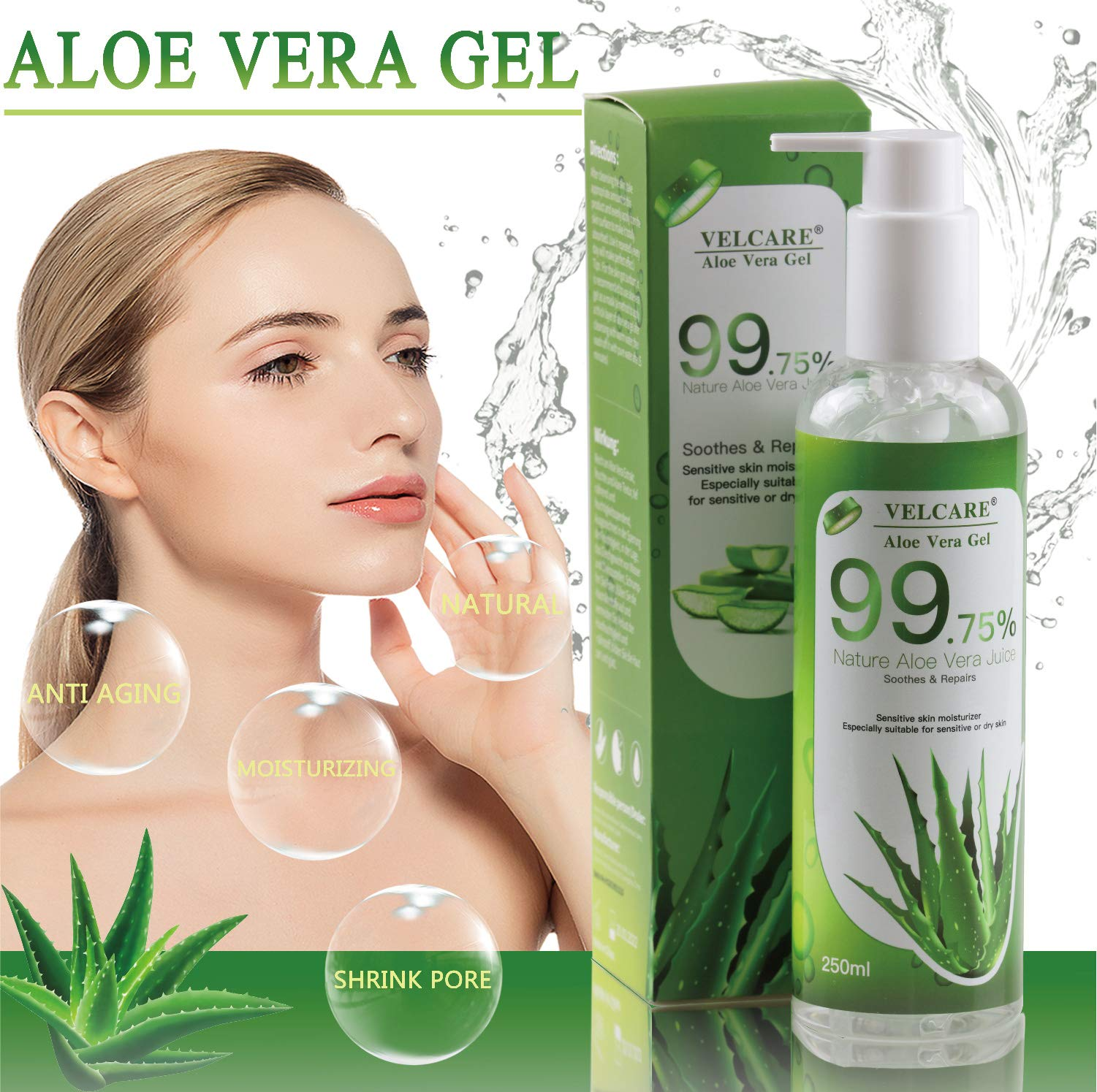 Velcare Aloe Percent Natural Organic