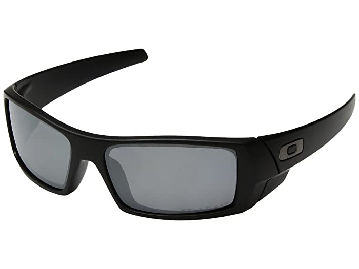 Oakley GasCan(r) Polarized (Matte Black/Black Iridium Polarized) Sport Sunglasses