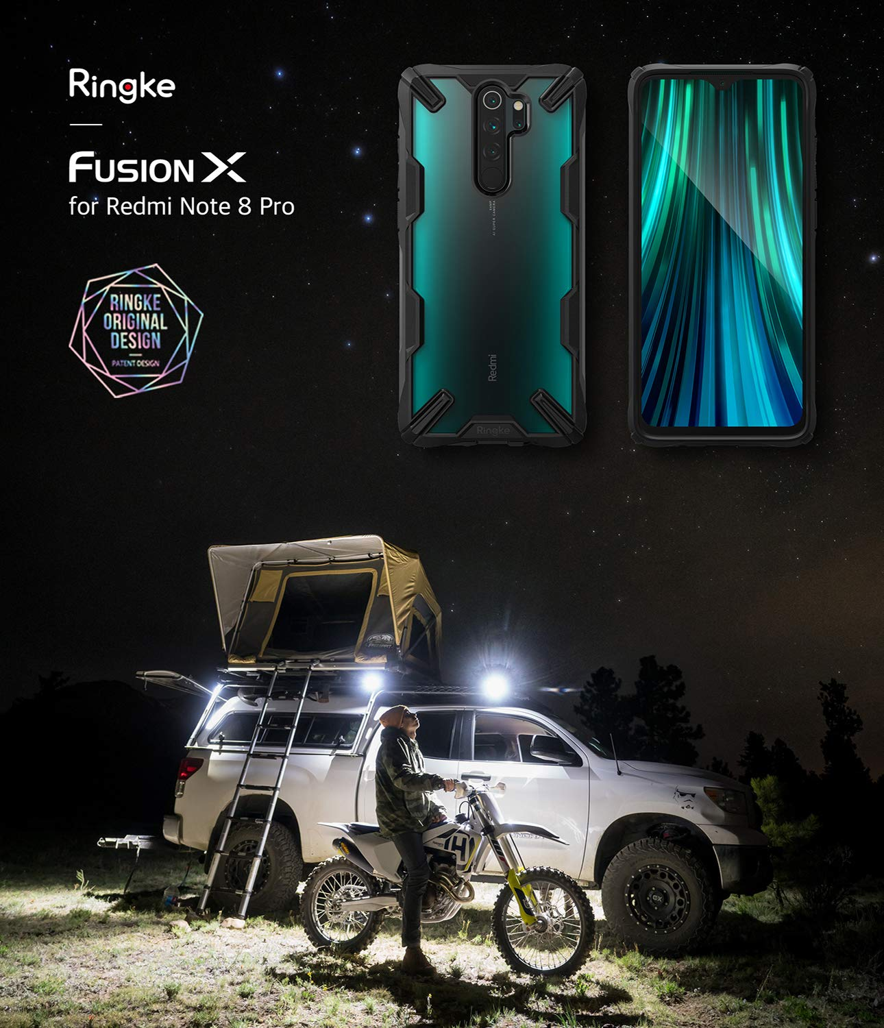 Ringke Fusion X Designed for Xiaomi Redmi Note 8 Pro Case (2019 ...