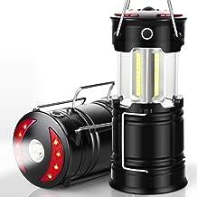 فانوس های کمپینگ EZORKAS 2 Pack ، چراغهای قابل شارژ قابل حمل ، چراغهای طوفان با چراغ قوه و پایه آهنربا برای کمپینگ ، طوفان ، پیاده روی ، اورژانس ، خاموشی