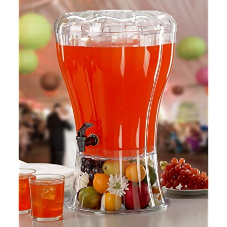 Buddeez Unbreakable 3-1/2-Gallon Beverage Dispenser with Removable Ice-Cone and BONUS Chalkboard ID tag - perfect for parties.