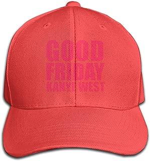 REVESS Adult Designed Kanye West Good Fridays Logo Strapback Cap Classic Baseball Hat