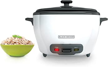 BLACK+DECKER RC5280 28 Cup Rice Cooker, White (Renewed)