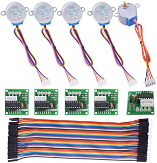 kuman Stepper Motor for Arduino 5 Sets 28BYJ-48 ULN2003 5V Stepper Motor + ULN2003 Driver Board + Better Dupont Wire 40pin...