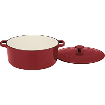 Cuisinart Chef's Classic Enameled Cast Iron 7-Quart Round Covered Casserole, Cardinal Red