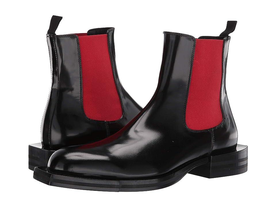 Alexander McQueen Pull-On Boot (Black/Red) Men
