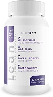 PrettyFit Lean - Metabolism and Mood Support - Green Tea Extract, N Acetyl-L-Carnitine, DMAE, Bacopa Monnie...