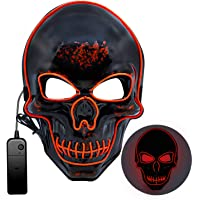 Mummed Light Up LED Halloween Mask with 3 Modes for Free