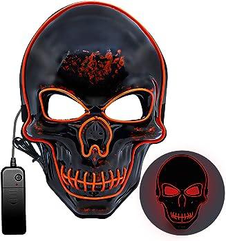 Mummed Light Up LED Halloween Mask with 3 Modes