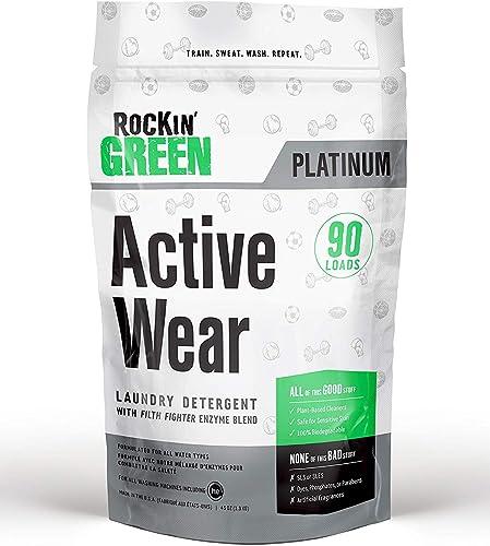 Rockin' Green - Platnium Series Active Wear Laundry Detergent 90 Loads - 45 oz.