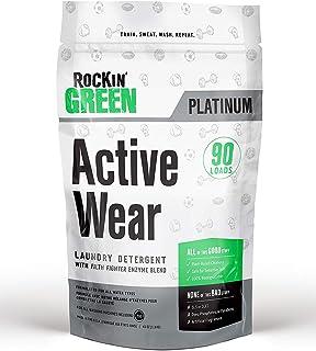 Rockin' Green | Aktywne zużycie puder do prania | 45 uncji / 90 ładunków - wszystkie naturalne, biodegradowalne i ekologiczne