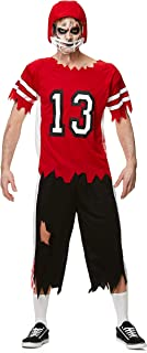 Men's Zombie Football Player Costume for Halloween Party Accessory