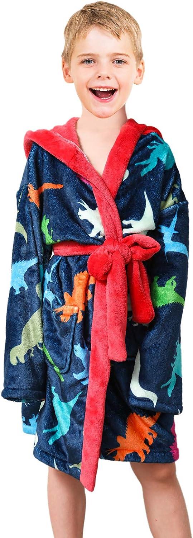 Sylfairy Kid Robe, Flannel Bathrobes for Boys Girls Hooded Pajamas Sleepwear: Clothing, Shoes & Jewelry