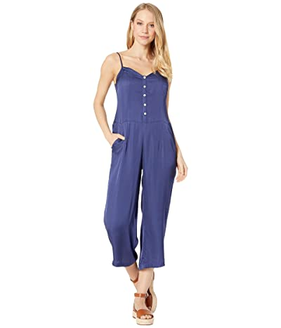 Chaser Silky Basics Button Front Cami Jumpsuit (Gulf) Women