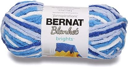 Bernat Blanket Brights Yarn, 5.3 oz, Gauge 6 Super Bulky Chunky, Waterslide Varg
