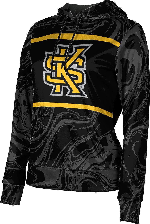 ProSphere Kennesaw State University Girls' Pullover Hoodie, School Spirit Sweatshirt (Ripple)