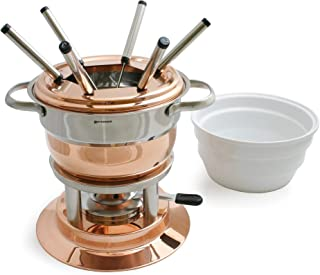 Swissmar Lausanne 11 Piece Copper Fondue Set