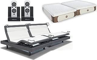 DynastyMattress 12-Inch CoolBreeze Gel Memory Foam with Reverie 8Q Adjustable Base Set Sleep System (Split-King)