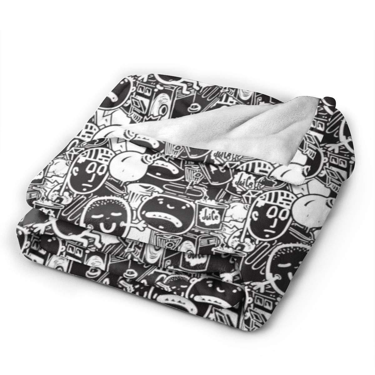 ブランケット ヒップホップオリジナルユースパターン 毛布 フランネル ブランケット 柔軟軽量発熱 吸湿/静電気防止/洗える 軽量 抗菌防臭 防ダニ加工