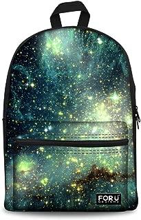 Galaxy School Backpack for Women Girls Canvas Book Bag Premium Daypack Teens