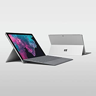 Microsoft Surface Pro 6 (KJT-00006), 2 in 1 Laptop, Intel Core i5-8250U, 12.3 Inch, 256GB SSD, 8GB RAM, Intel UHD Graphics, Windows 10, with Black Type Cover, Silver [Middle East Version]