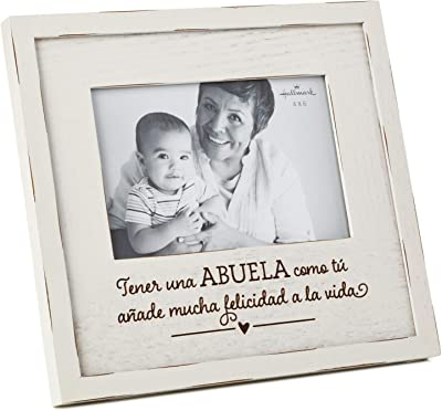 Hallmark Abuela Wood Picture Frame, 4x6 Picture Frames Family,Multicultural