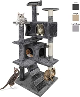 Nova Microdermabrasion 53 Inches Multi-Level Cat Tree Stand House Furniture Kittens..
