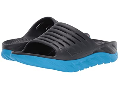 Hoka One One Ora Recovery Slide 2 (Ebony/Dresden Blue) Men
