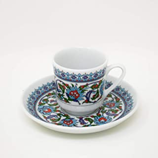Turkish Coffee Cup and Saucer (6 Sets) 12 Pieces