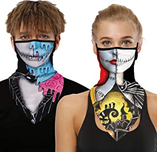 Ainuno Skull Mask Funny Hallloween Mask for Women Men Clown Mask Skeleton Costume for Outdoor Sun Protection