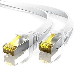 10m CAT 7 Netzwerkkabel Flach - Ethernet Kabel - Gigabit Lan 10 Gbit s - Patchkabel - Flachbandkabel - Verlegekabel - Cat.7 Rohkabel U FTP PIMF Schirmung mit RJ 45 Stecker - Switch Router Modem