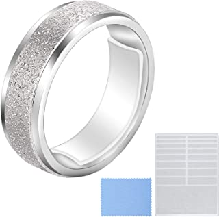 Blulu Ring Size Adjuster Loose Rings Adjuster Invisible Ring Sizer with Clean Cloth for Wide Ring Fixing, 5 Sheets (85 Pieces Totally)