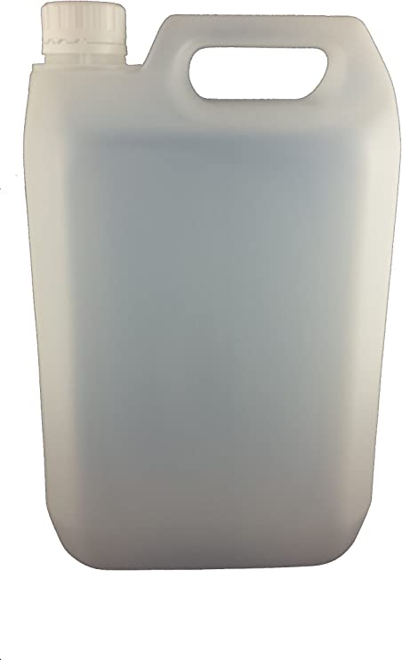 12 x 5 L LITRE 1 GALLON HDPE PLASTIC JERRY CAN BOTTLE CONTAINERS WITH CAPS: image