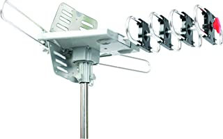 SuperSonic SC-613 HDTV Digital Amplified Rotating Antenna | 360 Degree Rotation: Clear Signal and Supports 2 TV Sets!
