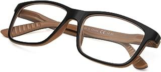 Classic Reading Glasses for Men Women - Rectangular Frame Readers - Spring Hinges Reading Eyeglasses