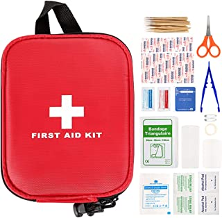 First Aid Kit 100pcs,First Aid Kit for Car,Compact Emergency First Aid Kit,Travel First Aid Kit,Waterproof EVA Case and Ba...