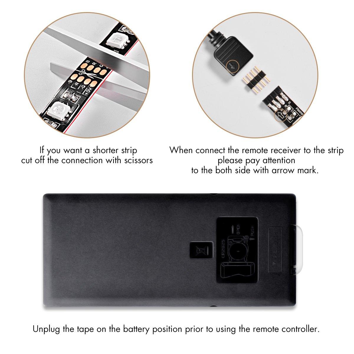 Sunix 2M RGB LED Tira de TV, Retroiluminación LED de TV USB con ...