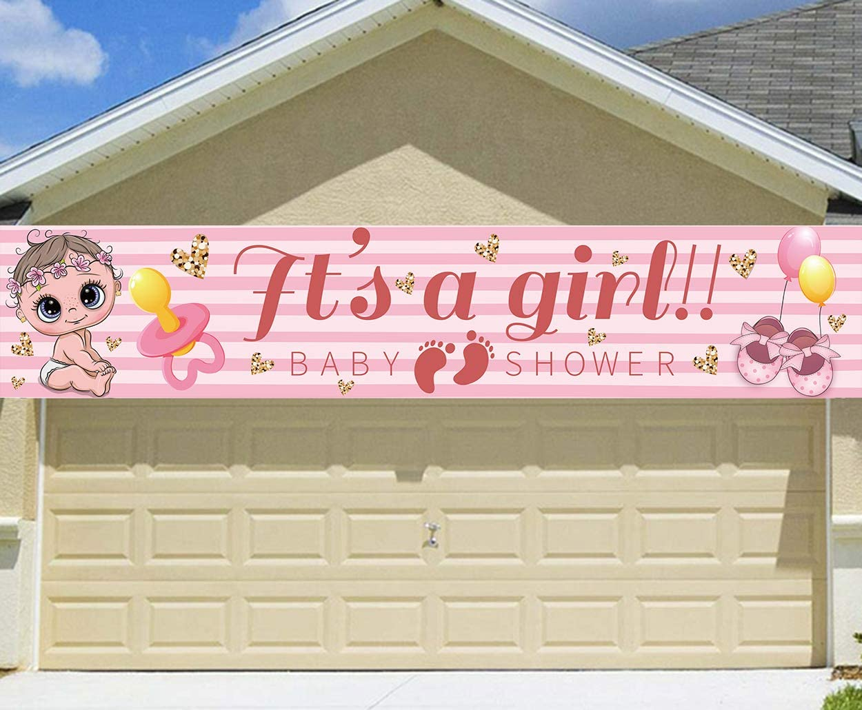 It's a Girl Yard Sign Outdoor Decorations - Large Size It's a Gi