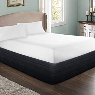 MARQUESS Polyester Blended Quilted Bed Skirt, Sagging Sense Enhanced,Anti-Wrinkle, Fade Resistant Dust Ruffle with Classic 14
